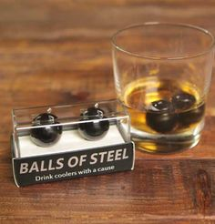 Balls of Steel whiskey chillers - Perfect gift for boyfriend, husband or whiskey lover this holiday season!  15% is donated to testicular cancer research.   #BOSlife #BOSholidays