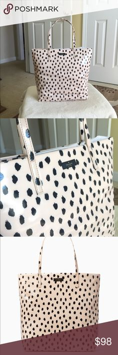 Authentic Kate Spade Daycation Bon Shopper Authentic Kate Spade Daycation Bon Shopper. Open top Tote bag. Style WKRU4360. Color tag- Flamingo Dot. New with tag. kate spade Bags Totes