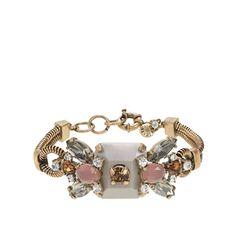 Crystal and stone row bracelet | J Crew | £70