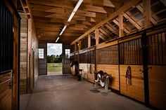 Awesome horse barn interior ~ definitely not your average horse barn!