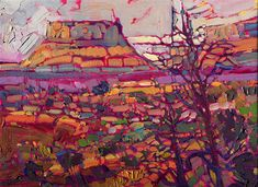 Canyonlands Rainbow - Contemporary Impressionism Art Gallery in San Diego - Modern Landscape Oil Paintings for Sale by Erin Hanson