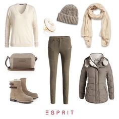Do you get irritated by the #grey weather? Then we just have the right thing for you: our #Esprit styles in off-white, #beige and #cream tones.