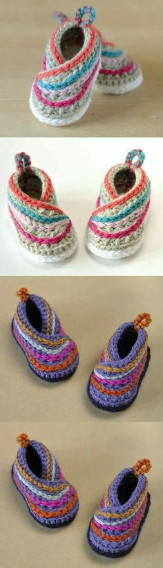 Baby Kimono Shoes Crochet Pattern These adorable baby booties feature little back loops and a fun wrap design Crochet Baby Clothes, Crochet Baby Shoes, Crochet Slippers, Love Crochet, Crochet For Kids, Knit Crochet, Booties Crochet, Crochet Flowers, Baby Shoes Pattern