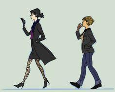 Sherlock Holmes & John Watson Genderbend