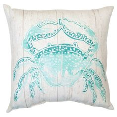 "Outdoor Pillow - Turquoise Crab - Threshold™ (17.5"" x 17.5"") - $15"