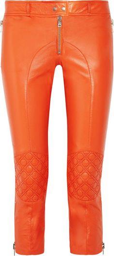 Leather Skinny Biker Pants