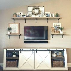 Image Result For Wall Shelves Around Tv Shelf Above Decor