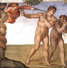 Michelangelo Buonarroti 1475 – 1564     The Expulsion from Paradise     fresco — 1508-1512 Sistine Chapel, Vatican City     Michelangelo Buonarroti biography     This work is linked to Genesis 3:24
