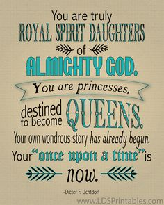 Destined to Become Queens YW Printable