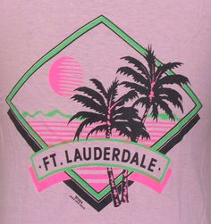 Vintage 1988 Fort Lauderdale sunset t shirt 80s Design, Illustration, Graphic Shirts, Fort Lauderdale, Vintage Tees, Screen Printing, Shirt Designs, Prints, T Shirt