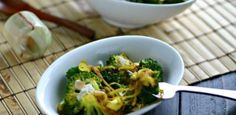 Spicy Curried Broccoli with Toasted Coconut and more vegetable Paleo side dishes recipes on MyNaturalFamily.com #paleo