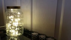 Pretty jar with fairy lights