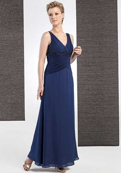 V-neck Pleated Appliques Two-double A-line Mother Of The Bride Dress