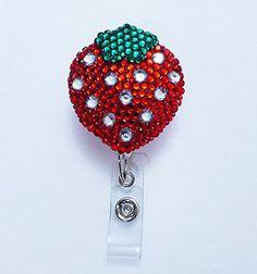 LOVEKITTY TM -- Blinged Out Red Strawberry - Retractable ID Badge Reel / Name Badges / Nurse Gift / ID Badge Holder / Nursing Badge / lovekitty http://www.amazon.com/dp/B008VJIONM/ref=cm_sw_r_pi_dp_2Gkyvb1R4NR76