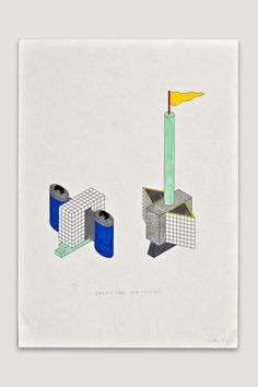 Contenitori per Rifiuti (Trash Container) Drawing by Nathalie Du Pasquier