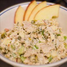 tuna tahini - healthy tuna salad. I left out the olives.