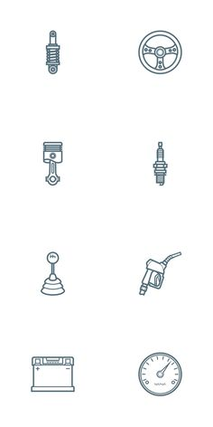Who doesn't like #Free Downloads? Check out these Car Parts Outline #Icon Set  #graphicDesign