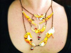 Statement Jewelry Circus Necklace Vintage by whatanovelidea, $59.00