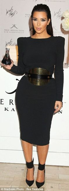 Tom Ford Fall 2012 RTW Longsleeve Dress With Shoulder Pads, Tom Ford Fall 2012 RTW Belt, Gianvito Rossi Ankle Wrap Pump,
