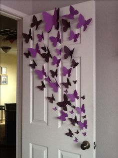 Paper Butterfly wall art.