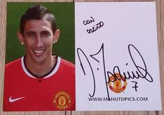 ORIGINAL AUTOGRAPH DI MARIA!!!! DEDICATION!!!