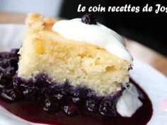 Gâteau Pouding aux Bleuets et Citron Blueberry Recipes, Easy Desserts, Vanilla Cake, Biscuits, Fondant, Bakery, Cheesecake, Deserts, Muffin