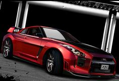 Red Nissan GTR #CarFlash