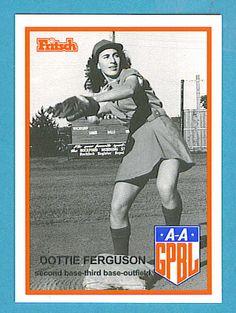 Fritsch AAGPBL Baseball Singles: #61 Dorothy Ferguson Old Baseball Cards, Baseball Dugout, Baseball Uniforms, Baseball Girls, Baseball Jerseys, Softball, Baseball Bats, Baseball Stuff, American Baseball League