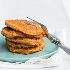 From our blog: Sweet Potato Pancakes -- We're in a sweet potato mood, and these fluffy pancakes are just the ticket.