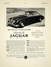 1959 Ad 1960 Jaguar Mark 2 4Door Saloon Car Classic Collector Automobile YMT2