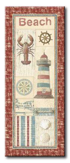 AUD_141_Coastal II _ Cuadro Vintage elementos marinos
