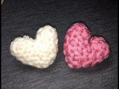 ハート(小)の編み方How to crochet a heart (small) by meetang - YouTube