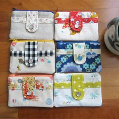 Cute sewing wallet tutorial on here! Sewing Hacks, Sewing Tutorials, Sewing Patterns, Bag Tutorials, Sewing Tips, Fabric Crafts, Sewing Crafts, Tape Crafts, Diy Sac