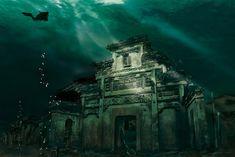 existem cerca de 265 arcos de pedra bem preservados na tal cidade, que aparentemente são itens preservados do urbanismo da Dinastia Han, agora fossilizados a mais de 30 metros de profundidade, juntos com templos, pagodes, ruínas e cemitérios.