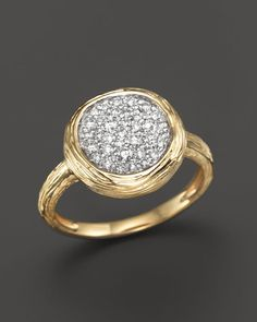Diamond Circle Statement Ring in 14K Yellow Gold, .40 ct. t.w.