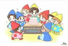 Chanyeol day #happychanyeolday #fanart #exo #exofanart #chanyeolfanart #chanyeol Chanyeol Cute, Park Chanyeol, Kpop Exo, Exo Fanart, Exo Cartoon, Exo Anime, Bts And Exo, Fan Art, Chanbaek