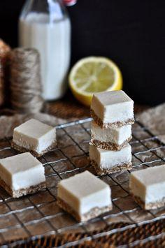 Grain-free, Nut-free Lemon Cheesecake Squares (AIP + GAPS friendly)