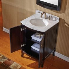 Gallery For Website Virtu USA Khaleesi inch Espresso Bathroom Vanity cabinet by VIRTU USA