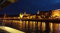 Night view of Budapest from Danube