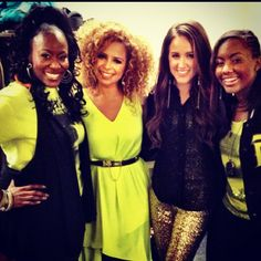 Mandisa, Blanca Callahan, Britt Nicole and Jamie Grace- four of my favorite singers together in one picture, what could be better?!