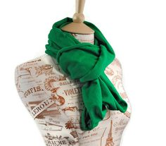 SALE Infinity Scarf Green Kelly Jersey Cotton by ForgottenCotton, $17.00