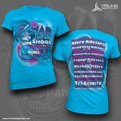 9 Panel - War on the Shore Event Tshirt Design by Triune Design Studio - #TriuneDesignStudio #cheerapparel #cheertshirt #customcheerapparel #cheer #cheerleading #cheerclothing #customapparal #cheershirt