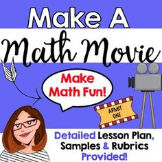 Have you ever wanted to create a movie with your students but didn't have the equipment?!? Well this math project will show you how to get your kids movie making using just a cell phone or i-Pad! The following is included in this project: Detailed Lesson PlanMovie Making Planning Sheet (for students to plan their movie)Sample Movie Scenes (for you to model what the movie will look like) Team Rubric Student Rubric Use this project with your whole class or during math centers to support groups…