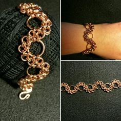 Manufaktura Leo hand made bracelet ZEN chainmaille 😊. Chainmaille, Leather Working, Leo, Jewelry Making, Diamond, Bracelets, Handmade, Hand Made, Diamonds