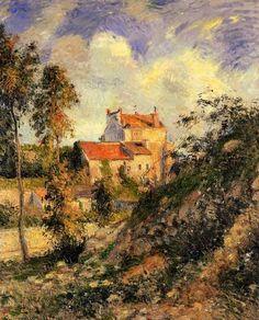 Camille Pissarro(Danish-French 1830ー1903)「Les Mathurins, Pontoise」(1877)