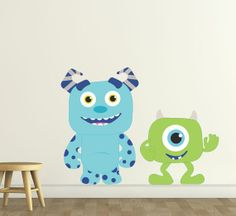 Items similar to Monster Buddies- Reusable Wall Stickers, Child Decor, 2 sizes available on Etsy Baby Boy Room Decor, Baby Boy Rooms, Nursery Decor, Nursery Ideas, Baby Room, Room Ideas, Monsters Inc Room, Monsters Inc Baby Shower, Reusable Wall Stickers