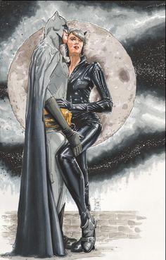 Batman & Catwoman (Dancing with the devil) by Francois Chartier Batman Vs, Batman And Catwoman, Batgirl, Catwoman Comic, Batman Stuff, Lego Batman, Comic Book Characters, Comic Character, Comic Books Art
