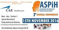 November 15. Register for our PreCon workshop in Bristol, UK at http://www.aspihconference.co.uk/register/