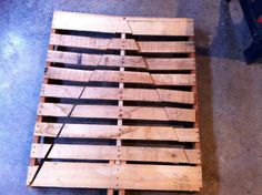 Step 1 to making a Christmas tree out of a pallet. Love this idea!
