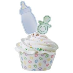Baby Shower Party Supplies: Baby Feet Cupcake Wraps and Picks offered by #1 Party Supplies and Party Favors